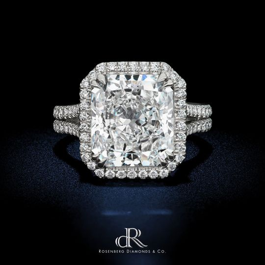 dr 5 60 carat radiant e vs1 gia diamond ring halo