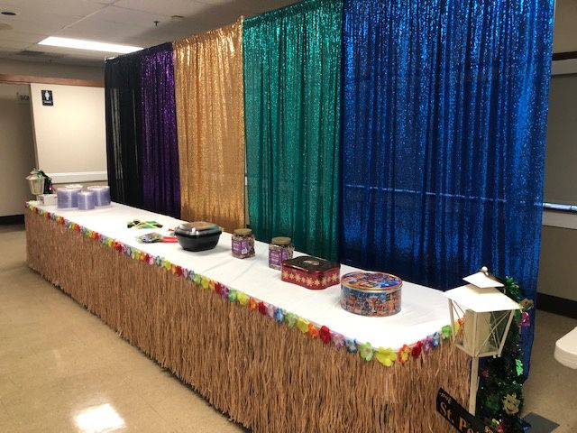 Most colors sequins drapery