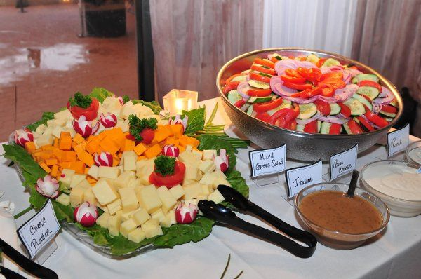 Mixed fruits, vegetable and cheese