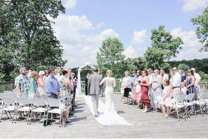 Back deck wedding