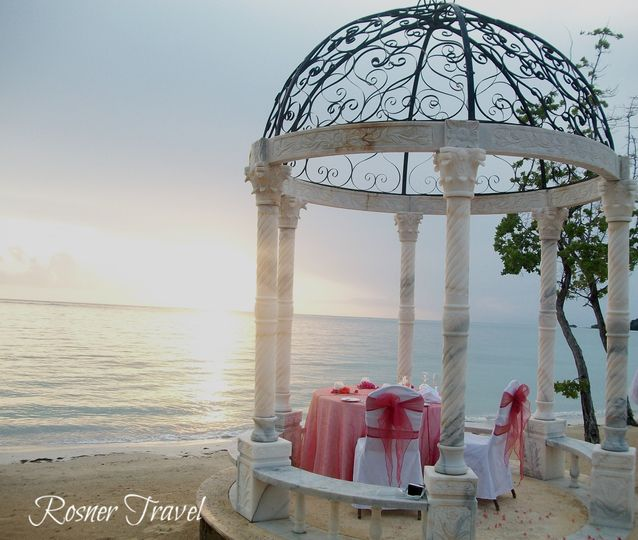 Ocean Front Destination Wedding or Romantic Dinner Gazebo at Sandals Whitehouse, Jamaica