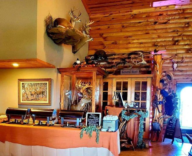 Rustic wedding display