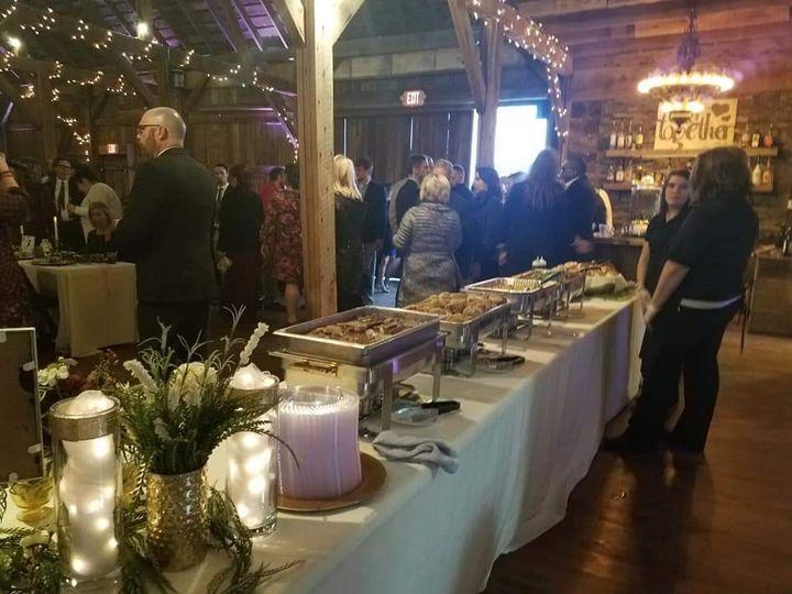 Guests enjoying the buffet