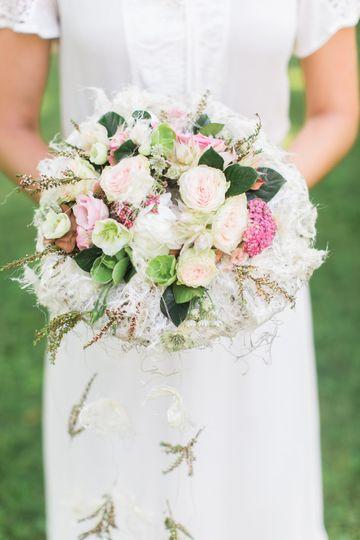 European style bridal bouquet