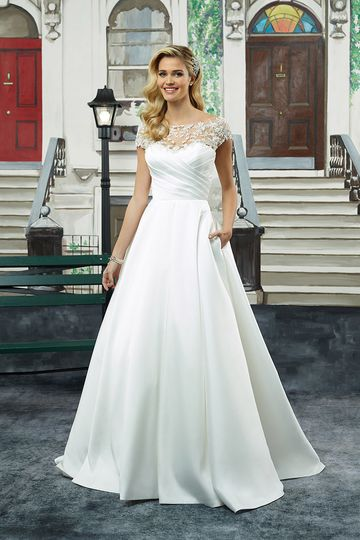 290c1b9b34113 Justin Alexander 8943 This Sabrina neckline pleated Mikado ball gown  embodies structure and.