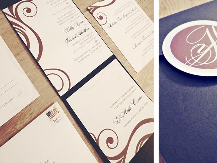 Tmx 1343665985460 HayesPocketfold Elyria wedding invitation