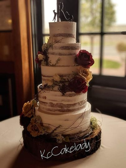 5 tier naked cake