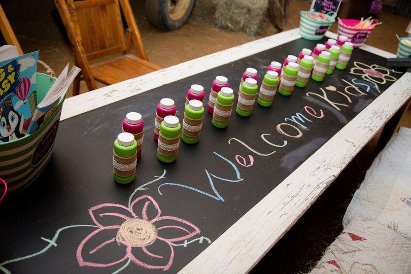 Chalk table design for kids