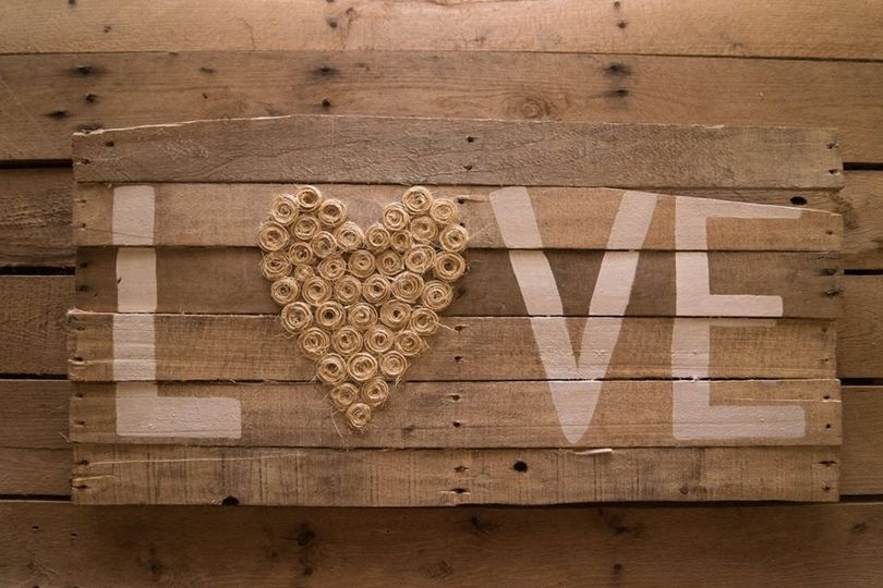 Wooden LOVE sign board