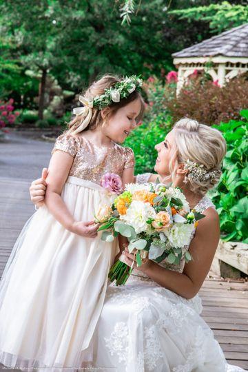 Bride & her flower girl