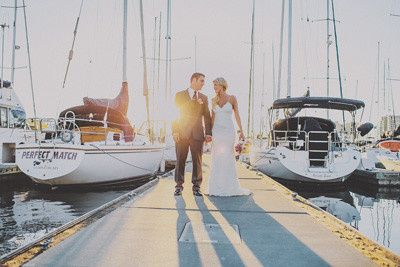 Couple by the dock