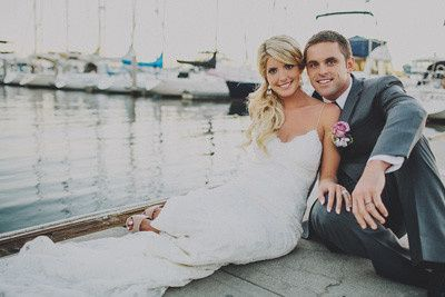 Couple photo by the dock