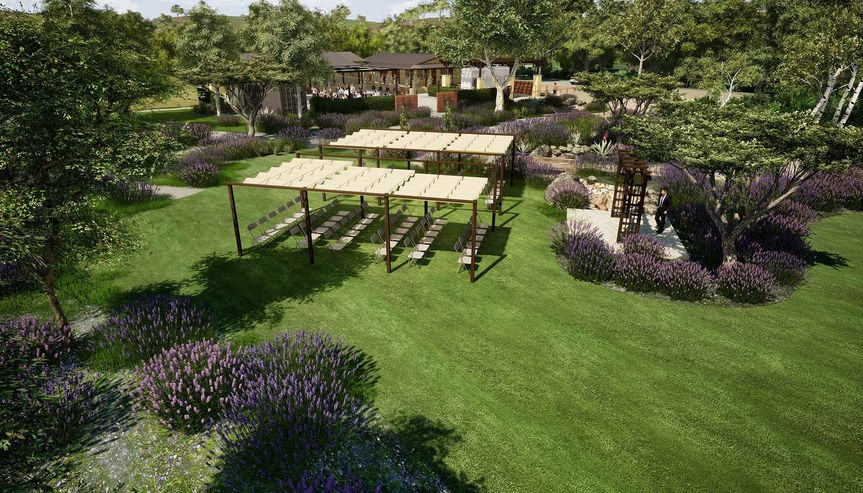 Large lawn for ceremony