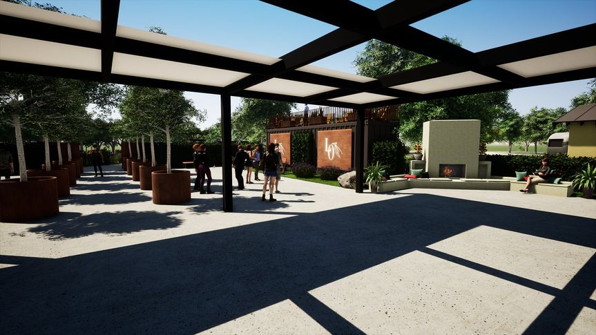 Sophisticated semi-covered veranda