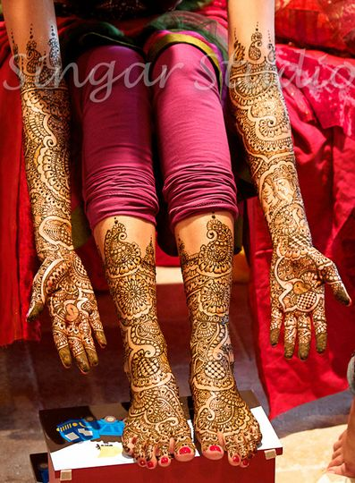 Bridal henna, intricate henna design