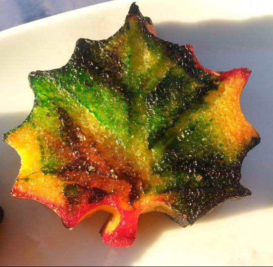multi colored flavored leaf moch