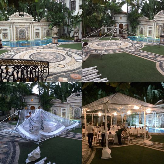 Clear tent 20'x30' at the Versace mansion.