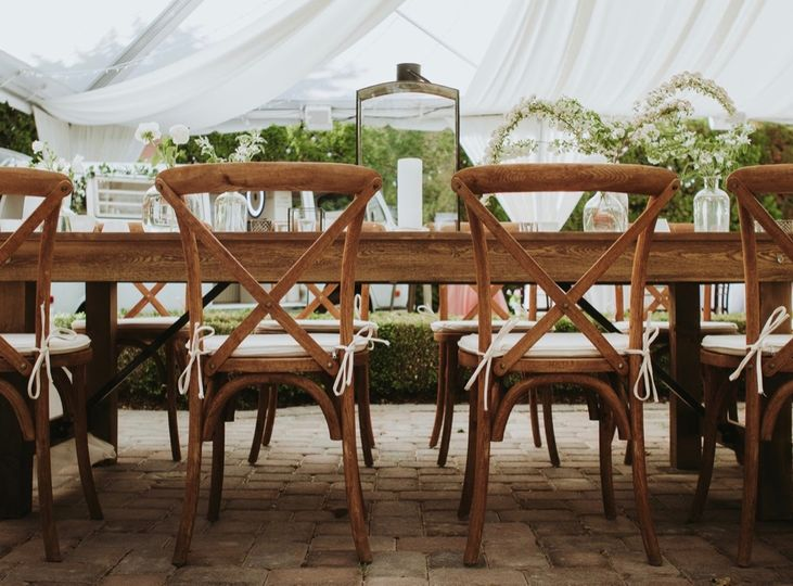 Chairs and table decor