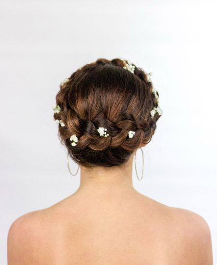 Floral hair styling