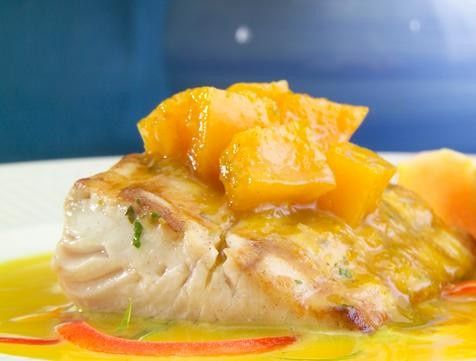 Farm to fresh table with fl fish with a tropical mango relish as entree selection 2 for guest choice...