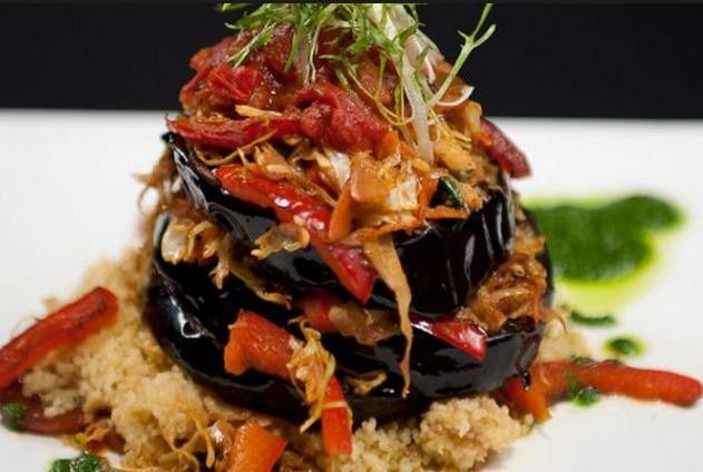Vegan and vegetarian or gluten free menus entrees as the 4th selection for guest choice tableside