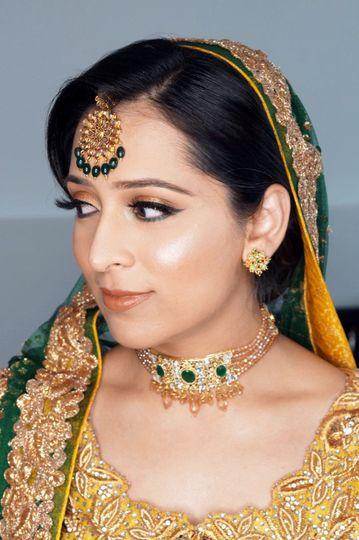 Bridal Makeup, hair, draping