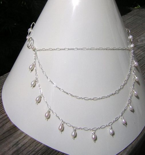 sterling silver & freshwater pearls.