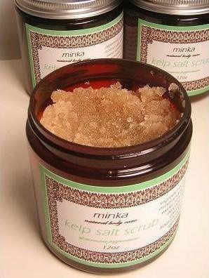 Kelp Salt Scrub An all natural scrub that exfoliates and moisturizes leaving your body feeling...
