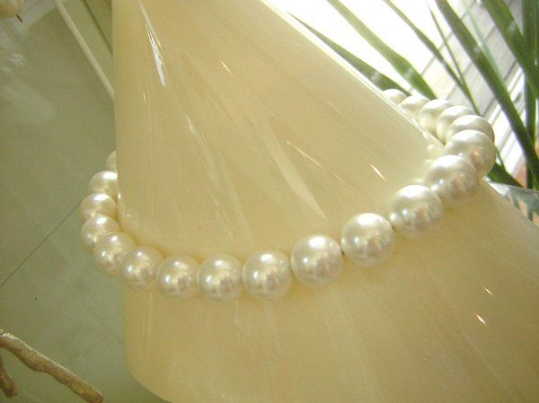 South Sea Shell Pearl Necklace.