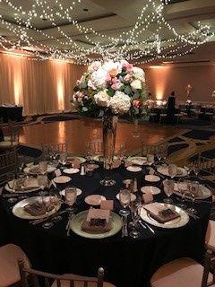 The regatta ballroom setup for a wedding
