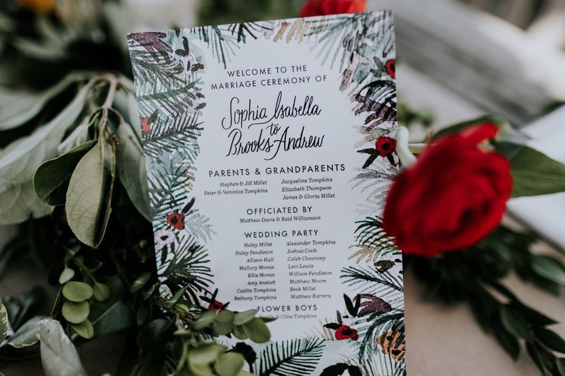 Red rose accents   Photo by Nicole Veldman