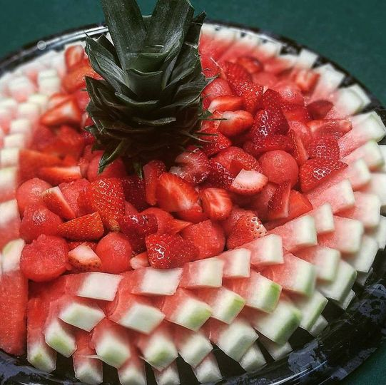 Strawberries and melon