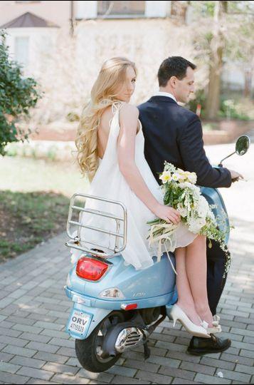 Couple ride