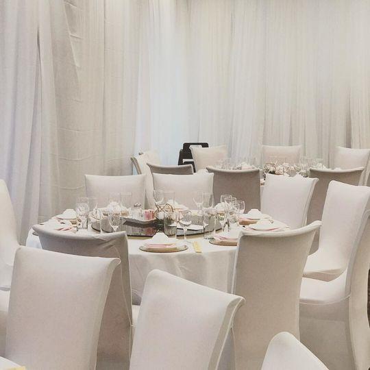 White table set-up