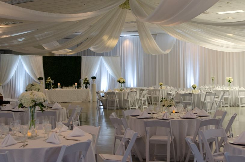 White themed reception
