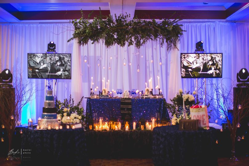 Sweetheart table and stage