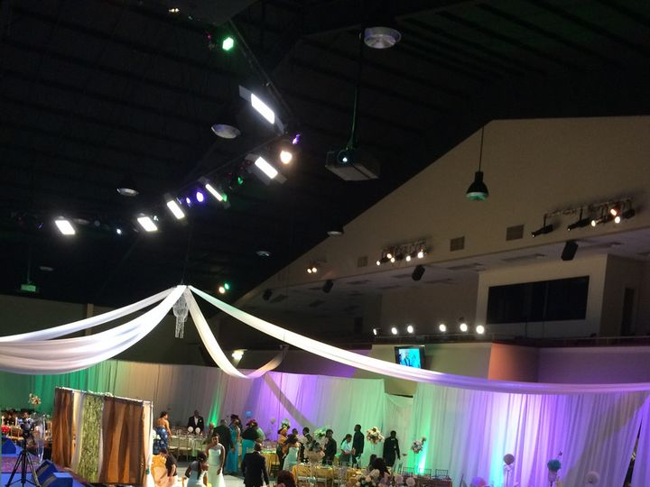 Tmx 1503520041630 Wedding Uplighting Celing Drape Decor By Dulce Houston wedding eventproduction