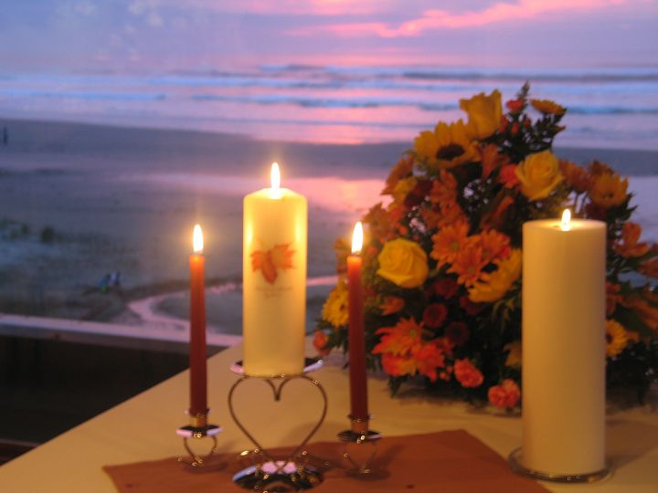 candles sunset