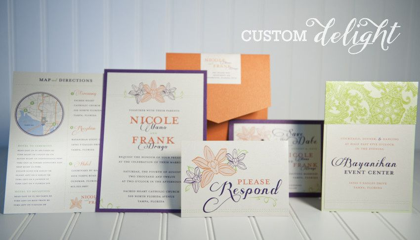 Custom Invitation Set  Copyright 2015 Hummingbird Invitation Studio. All Rights Reserved....