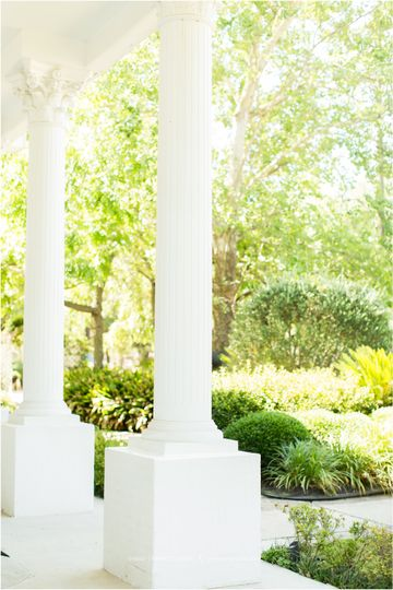Pillars by the garden