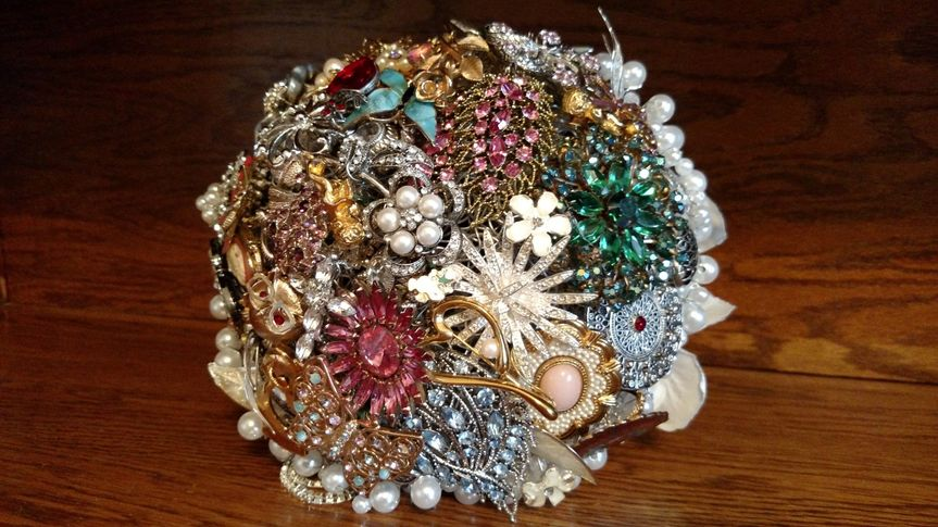 family brooch bouquet