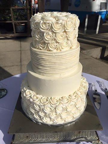 Four tier floral cake