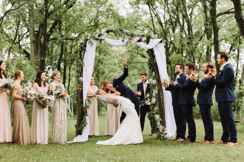 michigan backyard wedding in the woods