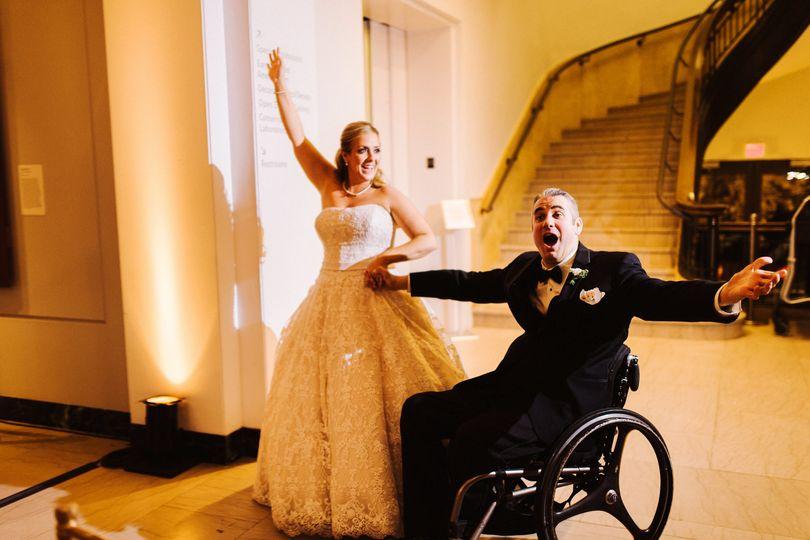 groom in wheelchair