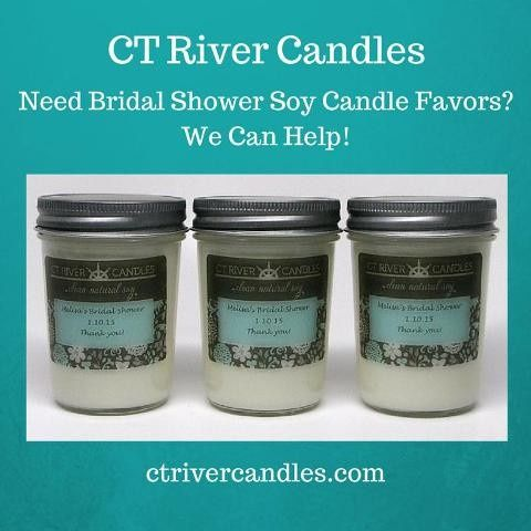 bridal shower soy candle favors yes we