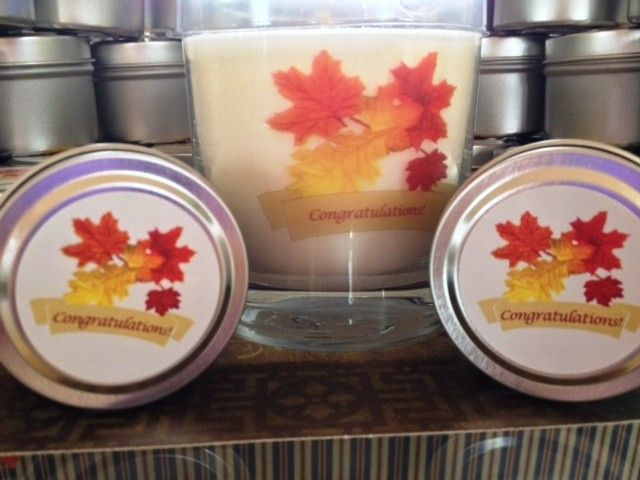 shower candles with fall theme