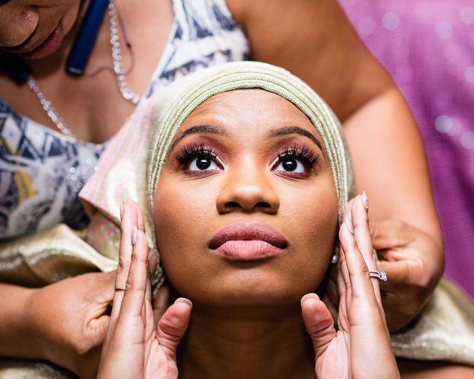 African Bridal dressing