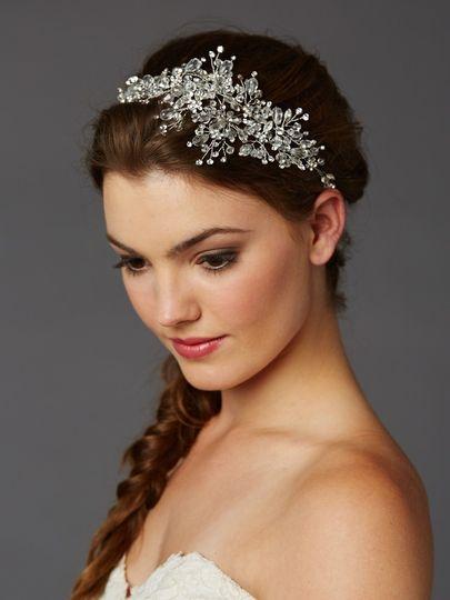 sparkling headband on model by mariell