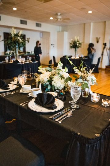 Beautiful head table for two