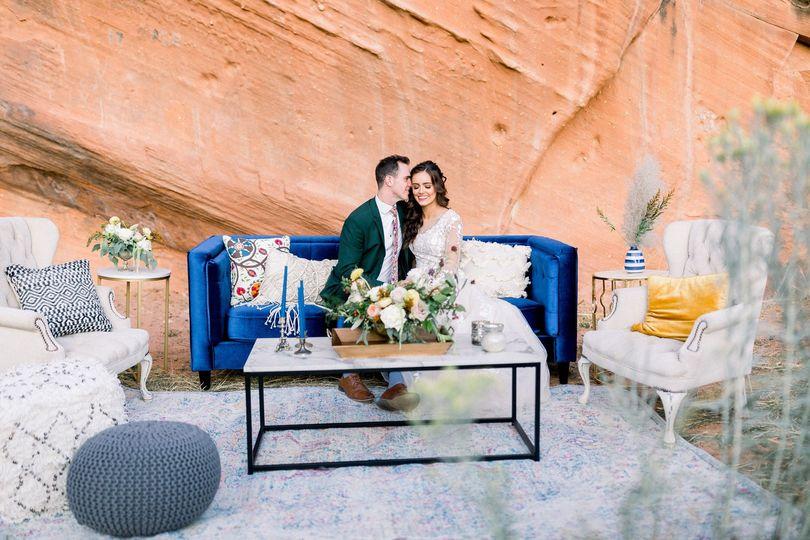 Navy blue contemporary sofa